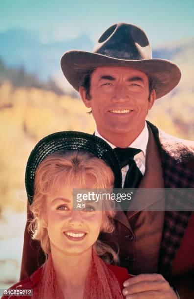 Debbie Reynolds et Gregory Peck dans le film 'La Conqête de l'Ouest' en 1962 EtatsUnis
