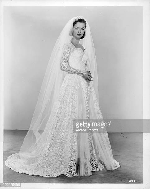 Debbie Reynolds in wedding gown in a scene from the film 'The Catered Affair' 1956