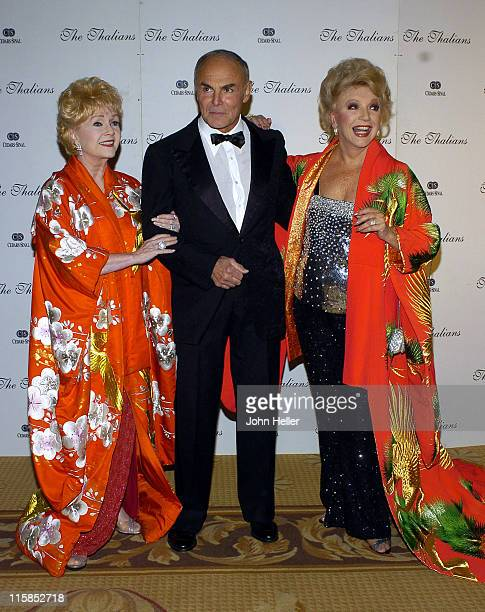 Debbie Reynolds John Saxon and Ruta Lee during The 49th Annual Thalians Ball at Century Plaza Hotel in Los Angeles California United States