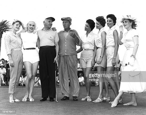Debbie Reynolds, Mamie Van Doren, Walter Winchell, Bing Crosby, Christine McGuire, Phyllis McGuire and Dorothy McGuire of The McGuire Sisters and...