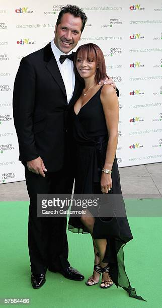 Debbie Seaman and former goalkeeper David Seaman arrive at the Dream Auction Full Stop VIP Party at the Albert Hall on May 9 2006 in London England