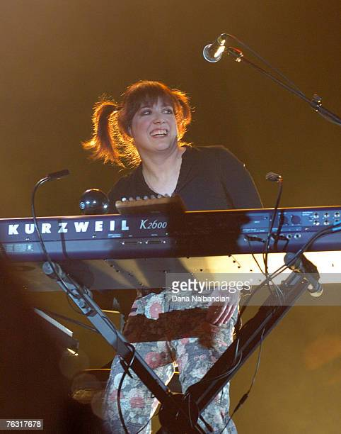 Debbie Shair of Heart performs at WaMu Theater on August 23 2007 Seattle Washington