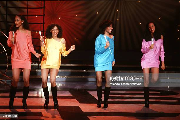 Debbie Sledge Kathy Sledge Joni Sledge and Kim Sledge of the vocal group Sister Sledge pose for a portrait in circa 1984