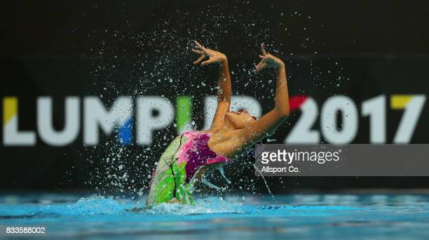 Debbie Soh of Singapore in action during the Women Synchronizedn Swimming Solo Free Routine competition at the Aquatic Centre as part of the 2017 SEA...