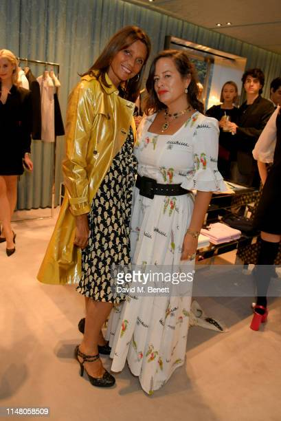 Debbie von Bismarck and Jade Jagger attend the Miu Miu Select by Georgia May Jagger event on May 09 2019 in London England