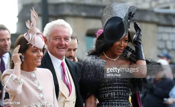 Debbie von Bismarck and Naomi Campbell arrive ahead of the wedding of Princess Eugenie of York to Jack Brooksbank at Windsor Castle on October 12...