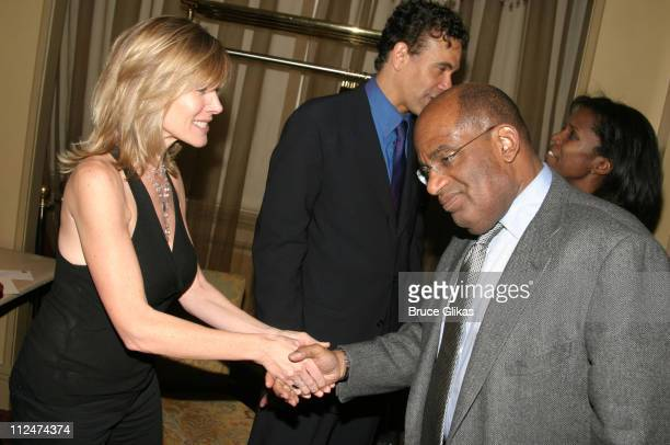 Debby Boone and Al Roker during Brian Stokes Mitchell Greets Guests at His Show Love/Life at Feinstein's at The Regency Hotel in New York City New...