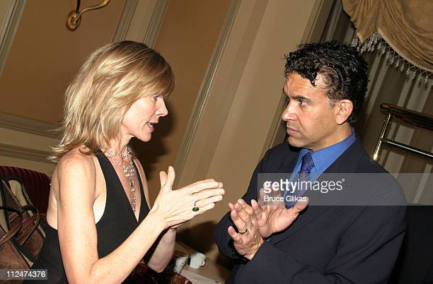 Debby Boone and Brian Stokes Mitchell during Brian Stokes Mitchell Greets Guests at His Show Love/Life at Feinstein's at The Regency Hotel in New...