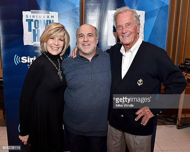 Debby Boone Lou Simon and Pat Boone attend SiriusXM's Town Hall with Pat Boone at Capitol Records Tower on November 22 2016 in Los Angeles California