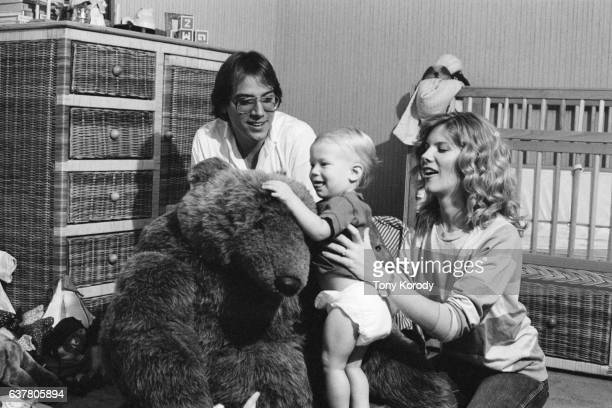 Debby Boone with Her Husband Gabriel Ferrer and Their Son Jordan at Home