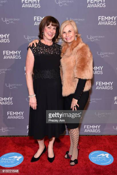 Debby Gedney and Karen Bromley attend 2018 Femmy Awards hosted by Dita Von Teese on February 6 2018 in New York City