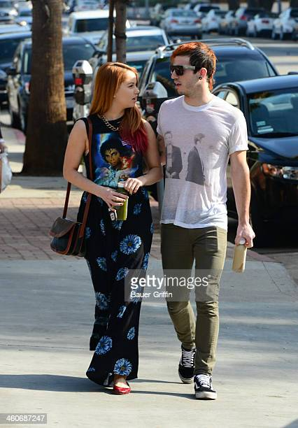 Debby Ryan and Josh Dun are seen on January 04 2014 in Los Angeles California