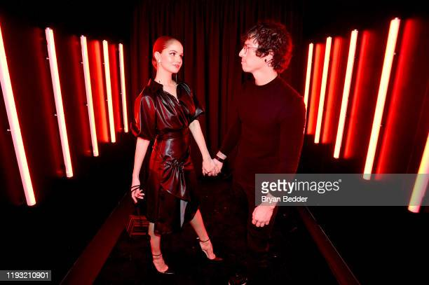 Debby Ryan and Josh Dun attend Naughty Or Nice A Swarovski Holiday Celebration on December 10 2019 in New York City