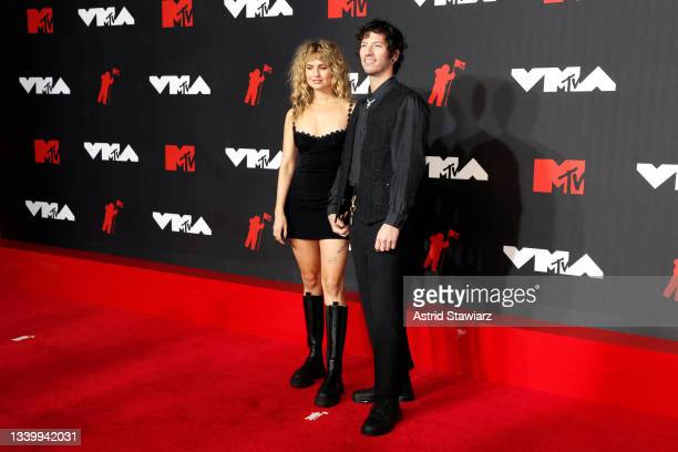 Debby Ryan and Josh Dun attend the 2021 MTV Video Music Awards at Barclays Center on September 12, 2021 in the Brooklyn borough of New York City.