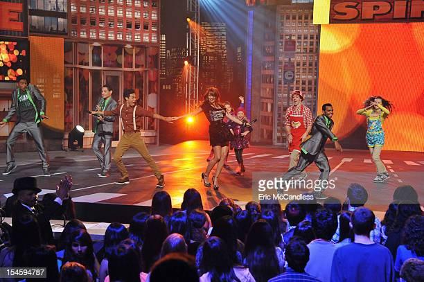 MARK Debby Ryan and Roshon Fegan host and Emmy nominated choreographer Derek Hough platinum recording artist Cher Lloyd and top choreographer Rosero...