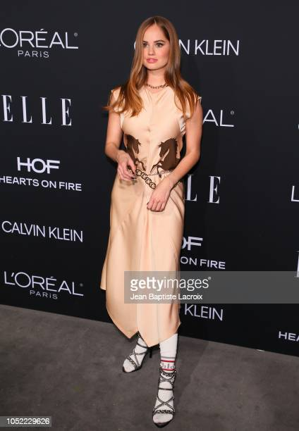 Debby Ryan attends the 25th Annual ELLE Women in Hollywood Celebration at Four Seasons Hotel Los Angeles at Beverly Hills on October 15 2018 in Los...