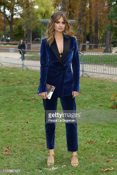 Debby Ryan attends the Elie Saab Womenswear Spring/Summer 2020 show as part of Paris Fashion Week on September 28 2019 in Paris France