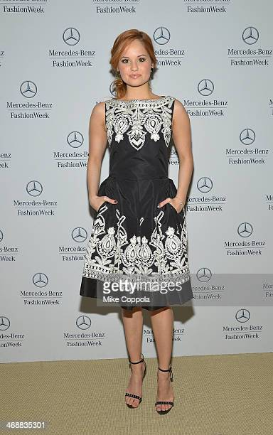 Debby Ryan attends the MercedesBenz Star Lounge during MercedesBenz Fashion Week Fall 2014 at Lincoln Center on February 11 2014 in New York City