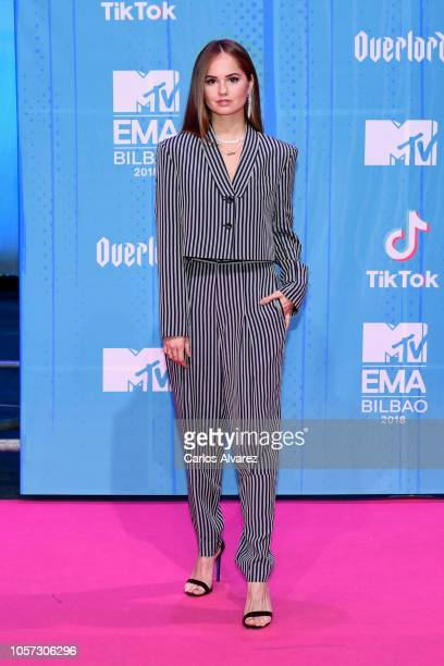 Debby Ryan attends the MTV EMAs 2018 at Bilbao Exhibition Centre on November 4 2018 in Bilbao Spain