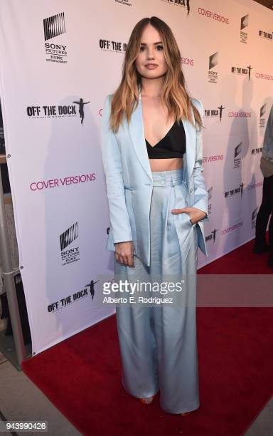 Debby Ryan attends the premiere of Sony Pictures Home Entertainment and Off The Dock's 'Cover Versions' at The Landmark Regent on April 9 2018 in Los...