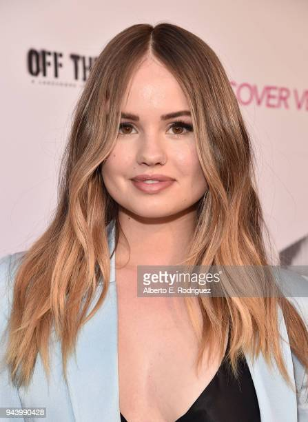 Debby Ryan attends the premiere of Sony Pictures Home Entertainment and Off The Dock's Cover Versions at The Landmark Regent on April 9 2018 in Los...