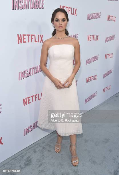 Debby Ryan attends the Season 1 premiere of Netflix's Insatiable at ArcLight Hollywood on August 9 2018 in Hollywood California