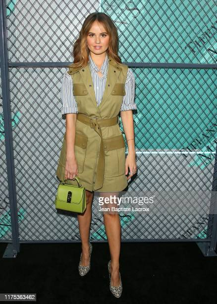 Debby Ryan attends the Tiffany Co Celebrates Launch of New Tiffany Men's Collections at the Hollywood Athletic Club on October 11 2019 in Los Angeles...