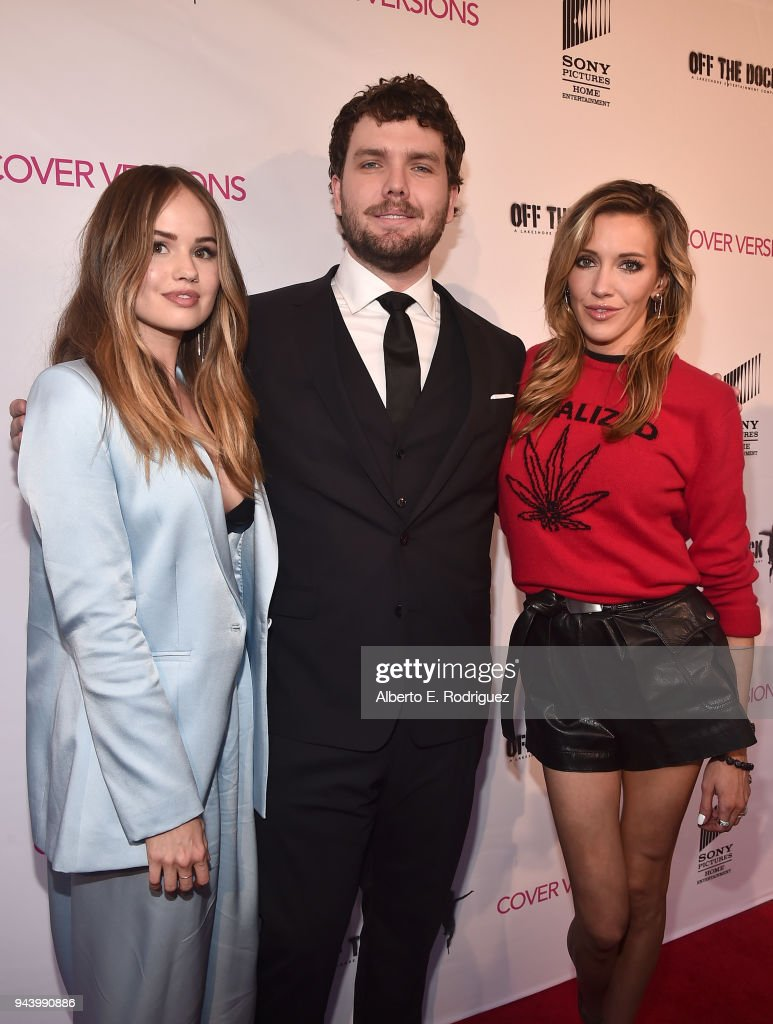 Debby Ryan, Austin Swift and Katie Cassidy attend the premiere of Sony Pictures Home Entertainment and Off The Dock's 'Cover Versions' at The Landmark Regent on April 9, 2018 in Los Angeles, California.