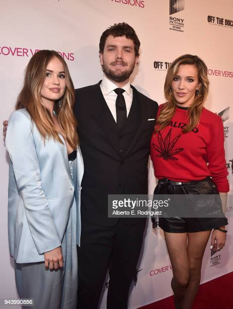 Debby Ryan Austin Swift and Katie Cassidy attend the premiere of Sony Pictures Home Entertainment and Off The Dock's Cover Versions at The Landmark...