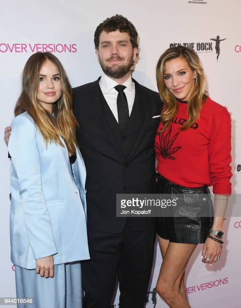 Debby Ryan Austin Swift and Katie Cassidy attend the Premiere Of Sony Pictures Home Entertainment And Off The Dock's Cover Versions at Landmark...