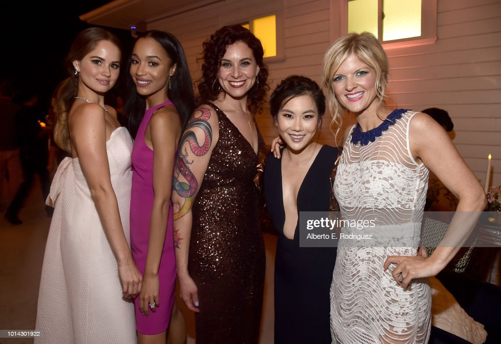 Debby Ryan, Erinn Westbrook, Lauren Gussis, Irene Choi and Arden Myrin attend the after party for the Season 1 premiere of Netflix's 'Insatiable' on August 9, 2018 in Los Angeles, California.