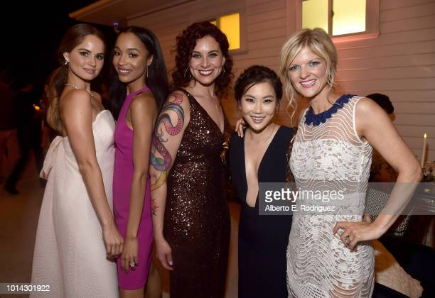 Debby Ryan Erinn Westbrook Lauren Gussis Irene Choi and Arden Myrin attend the after party for the Season 1 premiere of Netflix's Insatiable on...