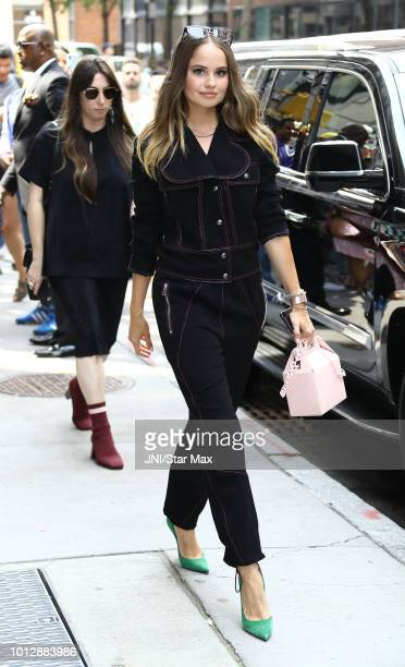 Debby Ryan is seen on August 7 2018 in New York City
