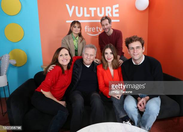 Debby Ryan Jeff Baena Molly Shannon Paul Reiser Alison Brie and John Reynolds attend The Vulture Spot presented by Amazon Fire TV 2020 at The Vulture...