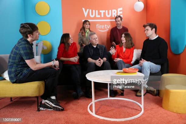 Debby Ryan Jeff Baena Pat Regan Molly Shannon Paul Reiser Alison Brie and John Reynolds attend The Vulture Spot presented by Amazon Fire TV 2020 at...