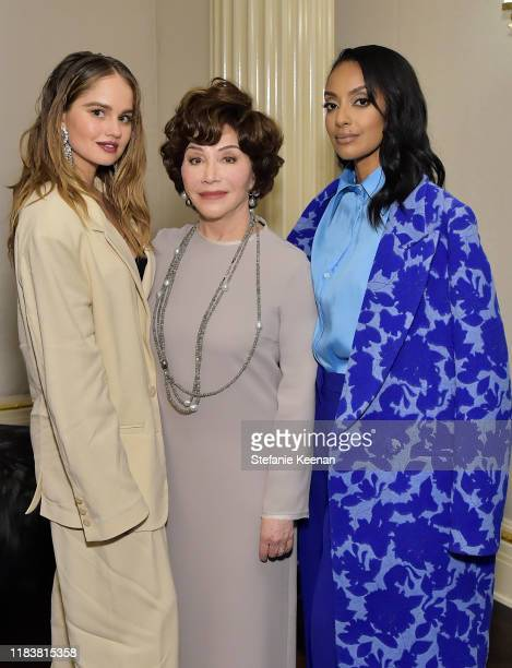 Debby Ryan Lynda Resnick and Azie Tesfai attend VIOLET GREY x Victoria Beckham Beauty LA Dinner hosted by Lynda Resnick and Cassandra Grey at a...