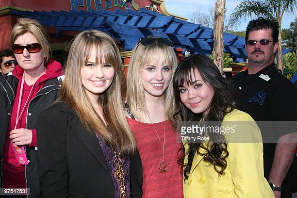 Debby Ryan Meaghan Martin and Anna Maria Perez de Tagle attend Pink's Grand Opening at Knott's Berry Farm on February 28 2010 in Buena Park California
