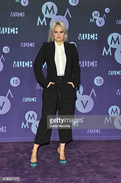 Debby Ryan poses in the press room at the 2015 MuchMusic Video Awards at MuchMusic HQ on June 21 2015 in Toronto Canada
