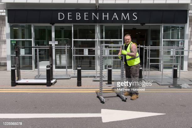 Debenhams store at Cyfartha Retail Park is emptied of fixtures and fittings on May 18 in Merthyr Wales Last week retailer Debenhams confirmed that...