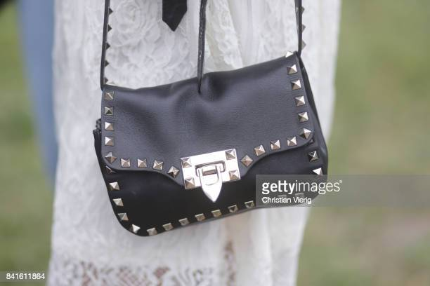 Debi Flügge purse detail during the Bread Butter by Zalando 2017 at arena Berlin on September 1 2017 in Berlin Germany