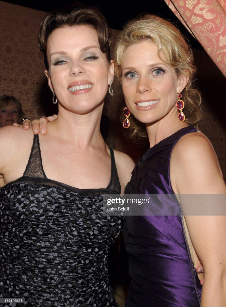 Debi Mazar and Cheryl Hines during 58th Annual Primetime Emmy Awards - HBO After Party - Red Carpet and Inside at Pacific Design Center in West Hollywood, California, United States.