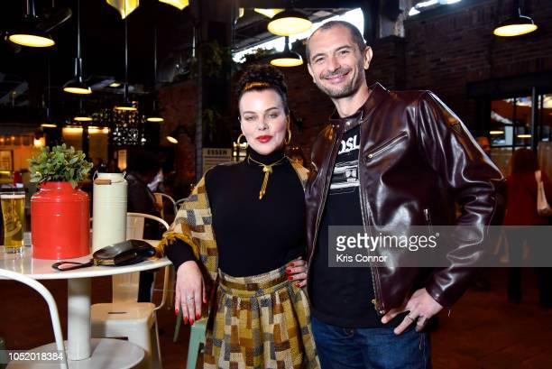 Debi Mazar and Gabriele Corcos attend Aperitivo! Presented By Peroni Hosted By Debi Mazar And Gabriele Corcos at The Standard Biergarten on October...