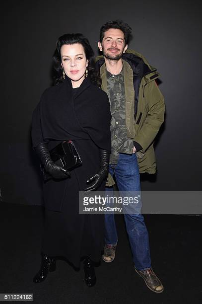 Debi Mazar and Gabriele Corcos attend the Marc Jacobs Fall 2016 fashion show during New York Fashion Week at Park Avenue Armory on February 18 2016...