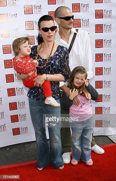 Debi Mazar and Gabriele Corcos with daughters Evelyn Maria and Giulia Isabel MazarCorcos
