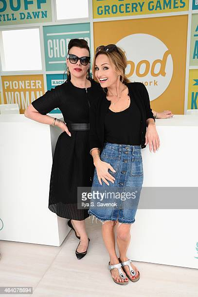 Debi Mazar and Giada De Laurentiis attend the KitchenAid Culinary Demonstrations during the 2015 Food Network Cooking Channel South Beach Wine Food...