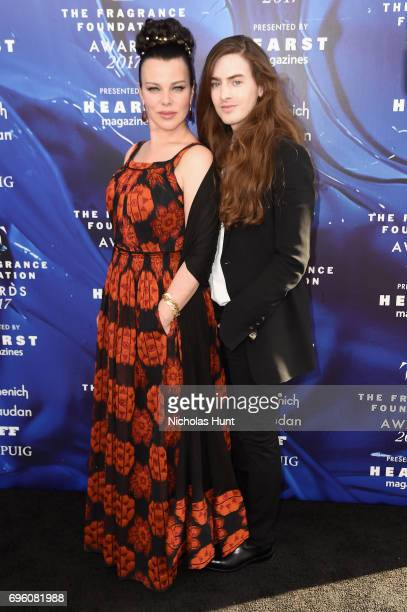 Debi Mazar and guest attend the 2017 Fragrance Foundation Awards Presented By Hearst Magazines at Alice Tully Hall on June 14 2017 in New York City