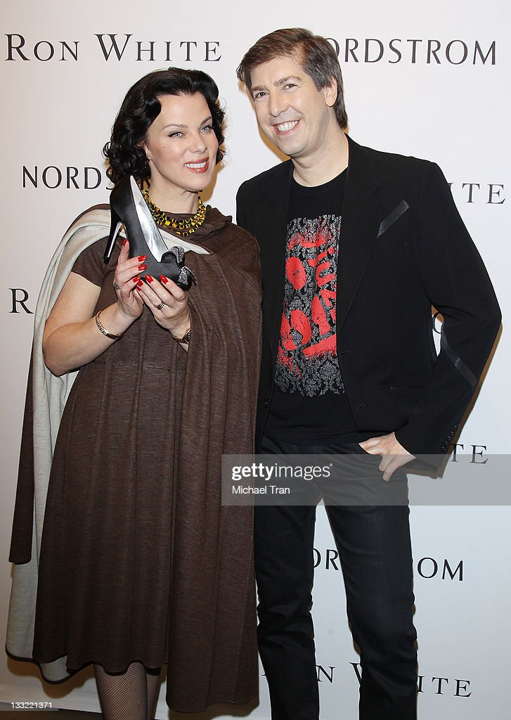 Debi Mazar (L) and Ron White attend the Ron White shoe collection launch and charity event held at Nordstrom at the Grove on November 17, 2011 in Los Angeles, California.