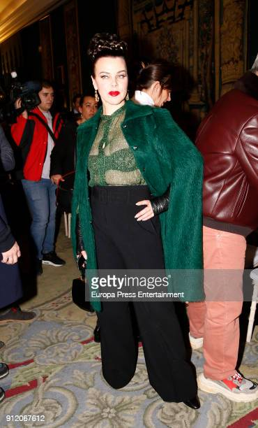 Debi Mazar attends the front row of Palomo Spain show during Mercedes Benz Fashion Week Madrid Autumn / Winter 2018 on January 28 2018 in Madrid Spain