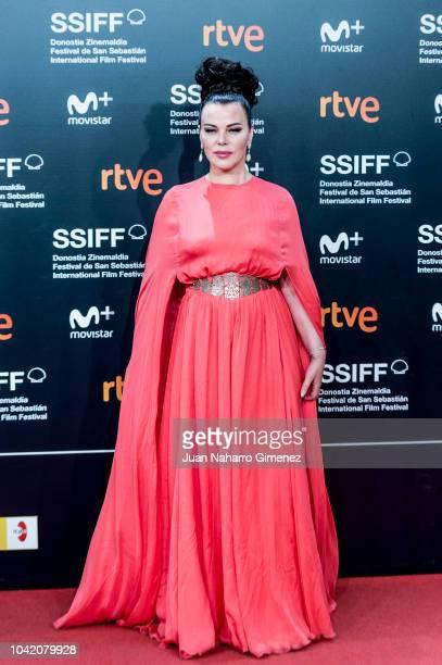 Debi Mazar attends the 'High Life' premiere during the 66th San Sebastian International Film Festival on September 27 2018 in San Sebastian Spain