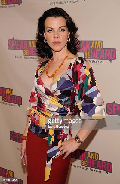 Debi Mazar attends the 'Speak And Be HeardLiving With Bipolar Disorder Depression' event to share her family's story about bipolar depression at Home...